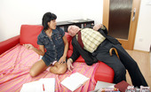 Old Farts Young Tarts Mireck & Tereza Aged English Teacher Penetrating His Hot Willing Student