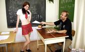 Old Farts Young Tarts Martina Horny Senior Dude Spanking The Naughty Horny Schoolgirl