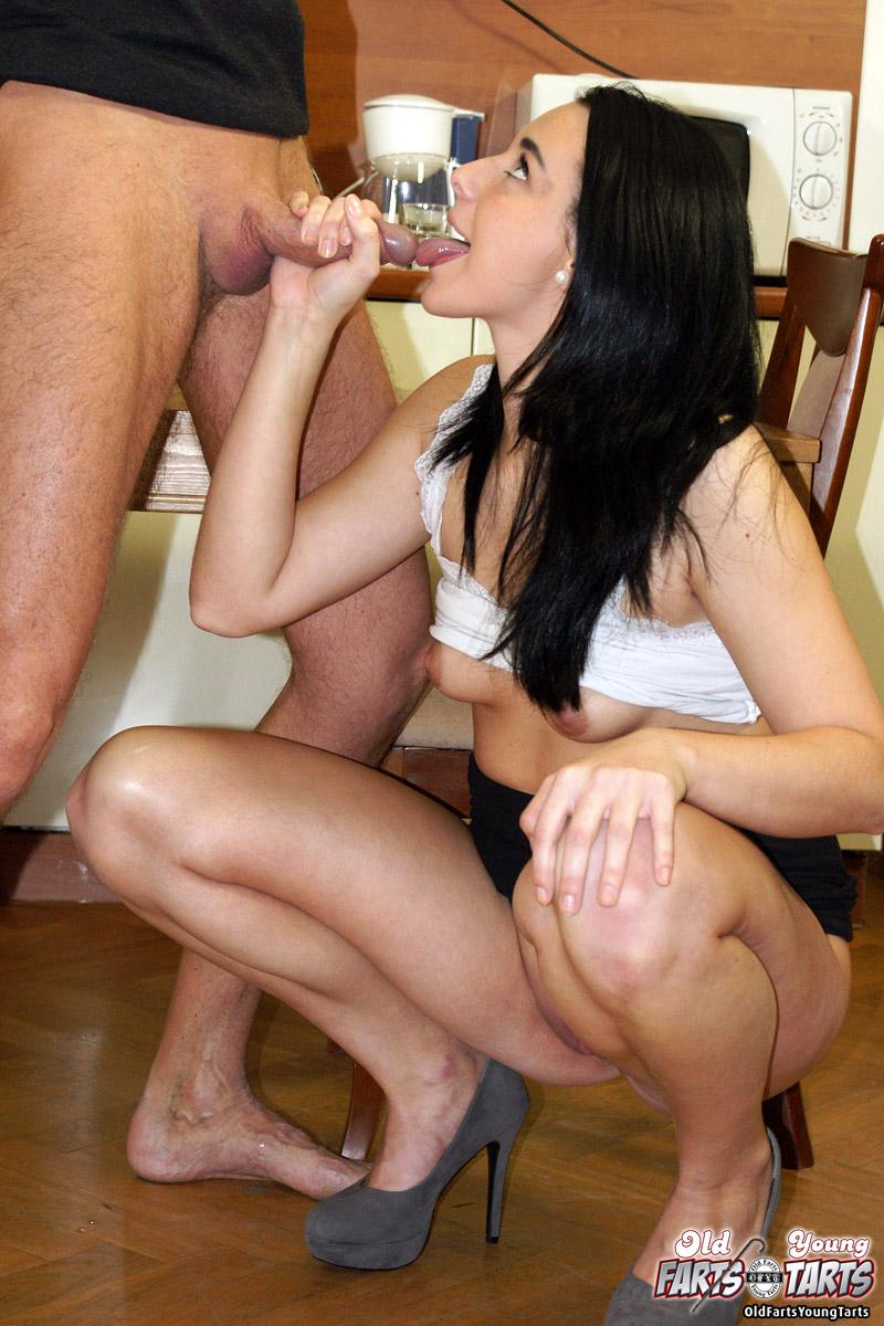 Mature Couple Share Young