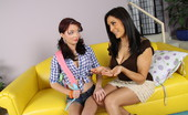 Cougars Crave Kittens Raylene & Jessi Palmer Raylene Teaches Young Jessi About Pussy