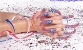 Foxy Anya Hot Babe Shows Off Long Nails And Bare Tits