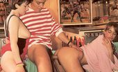 Rodox Gallery Th 11729 T Two Hairy Seventies Girls Pleasing A Big And Stiffy Cock