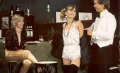 Rodox Gallery Th 13232 T Two Hairy Seventies Ladies Giving The Waiter All He Wants