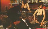Rodox Gallery Th 18016 T Three Hairy Topless Seventies Bartenders Serving Drinks
