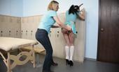 Bad Tushy Brunette Paddled On Her Teacher'S Desk