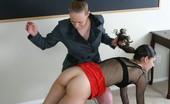 Bad Tushy Brunette Girl Spanks Her Blonde Roommate