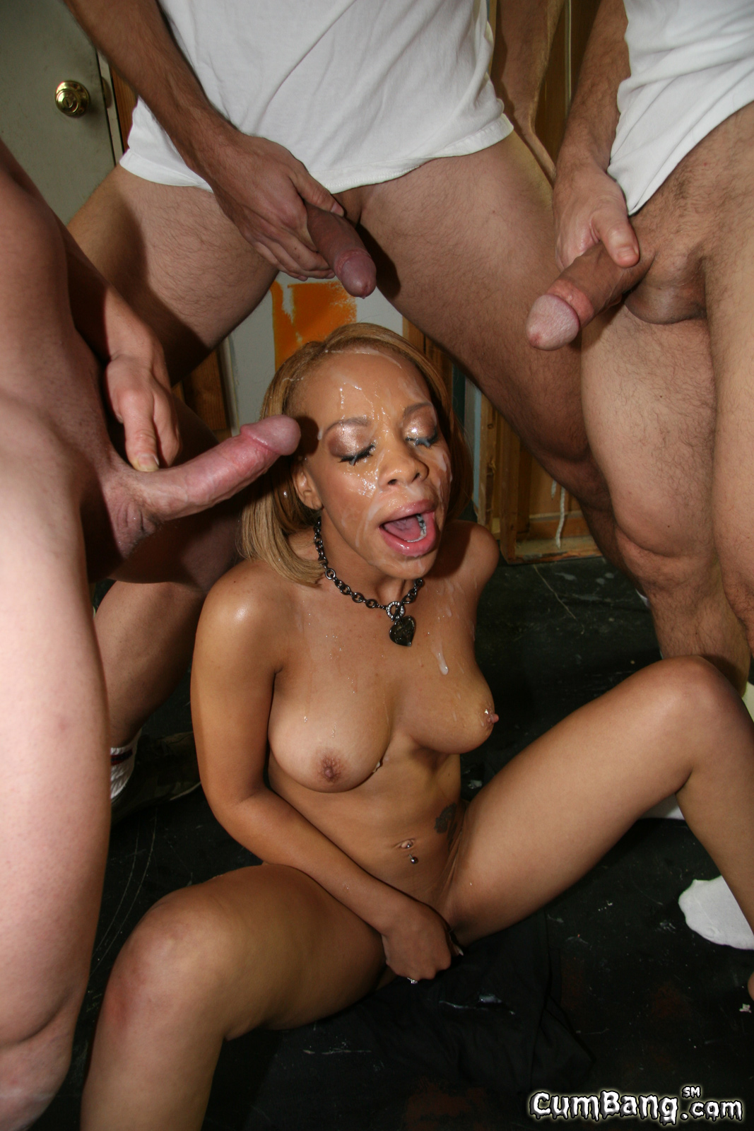 Black slut jazmin ryder owned by white gang 2