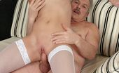 Beauty And The Senior Diana & Bruce Naughty Blonde Girl Taking Care Of Old And Horny Senior