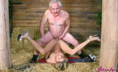 Beauty And The Senior Monika & Bruce Blonde Teenie Grabs A Senior And Enjoys His Cock Inside Her