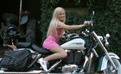 Beauty And The Senior Nicky Angel Aka Marcie, Rick & John Petite Blonde Teenie Girl Enjoying Two Old Biker Penises