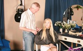 Beauty And The Senior Lucienne & Paul Babe Riding A Senior Hairdresser His Big Experienced Rod