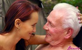 Beauty And The Senior Irene Freaky Old Grandpa Fucks A Cute Teen On The Campingsite