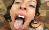 Load My Mouth Kora Cummings Kora Cumming Eats Brandon Irons Hot Load Of Man Sauce In This Photo Set