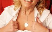 Mature.eu Naughty Blonde Housewife Getting Wet