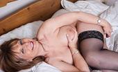 Mature.eu Big Breasted Mature Slut Loves To Get Wet On Her Bed