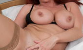 Mature.eu Hot Red MILF Playing With Her Big Tits