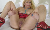 Mature.eu Naughty Blonde Mature Slut Playing With Her Pussy