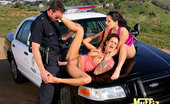 King Dong Watch Roxy And Angelin Get Banged Hardcore On Top Of A Cop Car