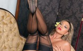 Vintage Flash Natalia Forrest Natalia'S Sexy And Silky Dress Over Her Sheer Nylons Turns Her On!