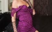 Vintage Flash Bianca 184841 Leggy Blonde Bianca In Lacy Undies And Black RHTs!