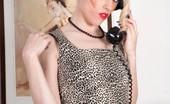Vintage Flash Michelle Moist Under Cover Underwear Agent Michelle Awaits Her Secret Call!