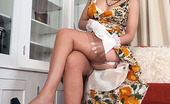 Vintage Flash Lucy Love Retro Fan Lucy Gets Hot And Wanton In Her Deep Garter Belt Nylons And Heels For You!