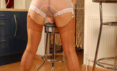 Vintage Flash Michelle Manzer 185068 In Her British Suntan Point Heel Full Fashioned Nylons, And Slinky White Sheer Nylon Panties, Michelle Fulfills One Of Our Fantasy Visions. She Loves The Thrill Of Our Style Of Dressing For Pleasure, As This Set Shows With A Shuddering Climax On Her Floor