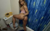 Naughty Sarah At Home Showing Her Pussy In The Bathroom Naughty Sarah Is Getting Naked In The Bathroom, Showing Her Nice Big Boobs And Spreading Her Legs To Expose Her Young Tight Pussy. She Is A Real Exhibitionist And Gets Horny Showing Her Body, So Then Start Fingering Her W