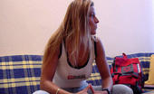 Mike's Apartment Linda Hot Little Blonde With Nice Rack Uses Her Pocket Rocket