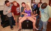 Tampa Bukkake Busty Blonde MILF Gang Bang Bukkake Party