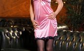 Art-Lingerie Rose A Rose A In Silky Pink Lingerie.