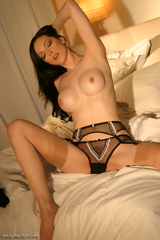 Thanks for Brunette sheer lingerie wife