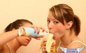 Spunky Angels Madison & Chloe Chloe Licks The Whipcream From Madisons Perky Tits Madisonchloebananaandcream