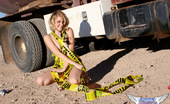 Spunky Angels Ashlee Ashlee Tries To Cover Her Perfect Perky Tits With Caution Tape Ashleethetankertruck