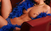 Spunky Angels Erin Topless Spunky Angel Erin Shows Off In Just A Boa And Blue Panties Erinfeathers