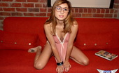 Spunky Angels Zoey Violet Cute Teen Zoey Violet Shows Off Her Hipster Side As She Strips Completely Naked Zoeyviolet-Hipsterporn