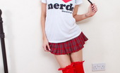 Spunky Angels Lexi Tiny Babe Lexi Shows Her Love For Nerds As She Strips Down To Just Her Red Stockings Lexi-Iheartnerds