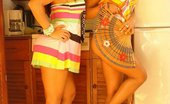 Spice Twins The Twins Peel Off Their Sundresses To Reveal Their Hot Bodies