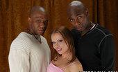 Interracial.com Katja Katja Sucks And Then Fucks Two Big Black Dicks