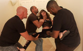 Hardcore Gang Bang Kat Dior Gets A Made-To-Order Gangbang Crew Sent To Her House, Where They Throw Her Up Against The Wall, Humiliate Her, DP Her, And Cum On Her Face.