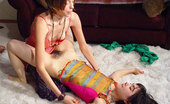 Hippie Goddess Two Hairy Hippie Teens Playing With Each Other In This Erotic Set.