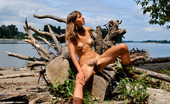 Hippie Goddess Exotic Hippie Strips Down At The Beach To Reveal Her Natural Furry Bush And Hairy Pits.