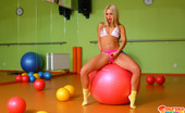 Sabrina Blond Sabrina Looks Extremely Hot With Her Pink Strapon