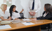 Pure CFNM Office Girls Blackmail, Strip And Wank Male Co-Worker