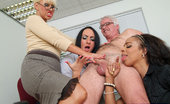 Pure CFNM Executive Tries To Seduce New Secretary But Ends Up Stripped And Wanked By The Whole Office