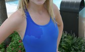 Skye Model Blonde Teen Skye Shows Off Her Tight Little Body At The Pool In A Tight One Piece Bathing Suit