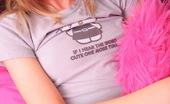 Skye Model Petite Blonde Teen Skye Presses Her Perky Tits Up Against The Mirror