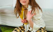 Shy Angela Pretty Teen Schoolgirl Playing With A New Ribbed Dildo She Got For Her 18th Birthday
