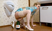 Slime Wave Paris Diamond Slimy Blonde Slut Masturbating With A Bottle And Fake Cock