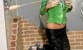 Slime Wave Mia Angel Clothed Sweetie Slurps Sticky Cum From Fake Plastic Penis